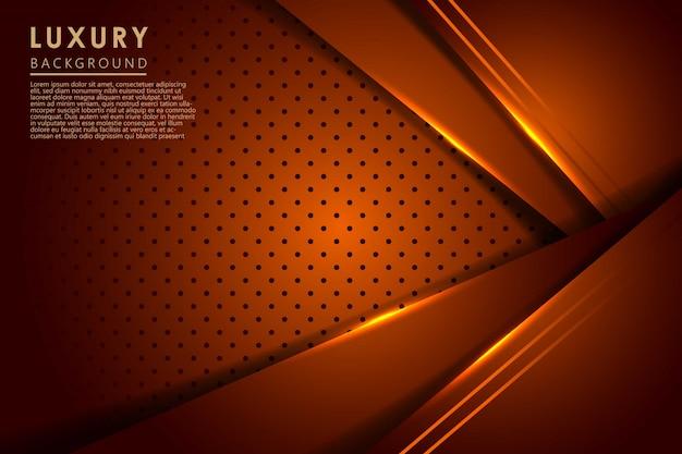 Abstrakte dunkelorange lichtüberlappungsschichten mit kreismuster moderner futuristischer luxushintergrund