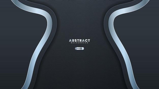 Abstrakte dunkle metallic-silber-rahmen-tech-elegante-design-hintergrund-vorlage geeignet für web-banner, poster, flyer, cover, broschüre