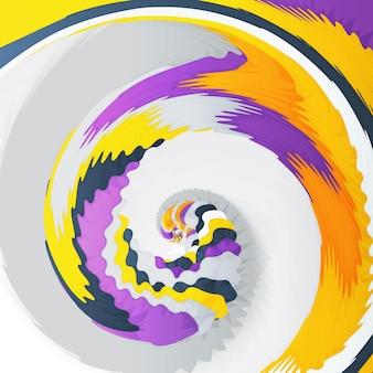 Abstrakte dynamische illustration, bunter rotierender strudelhintergrund