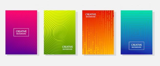 Abstrakte dynamische moderne banner, abdeckungsdesign. farbiger halbtonverlauf.