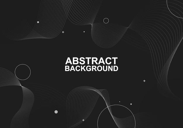 Abstrakte einfache linien und punktkreise hintergrund vektorillustration