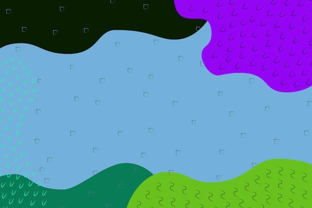 Abstrakte einfache mehrfarbige, grüne, blaue, violette, dunkelgrüne formen hintergrund