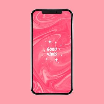 Abstrakte einfarbige ästhetische rosa ja handy-wallpaper