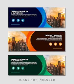 Abstrakte elegante business-web-banner-vorlage