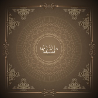 Abstrakte elegante königliche mandala hintergrund design