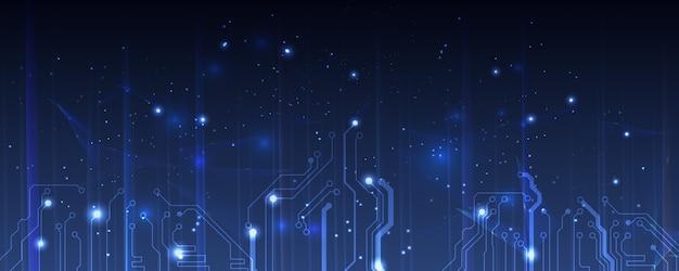 Abstrakte elektrische platine, schaltung. abstrakte wissenschaft, futuristisch, web, netzwerkkonzept hintergrund