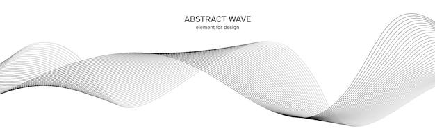 Abstrakte elementwelle für design