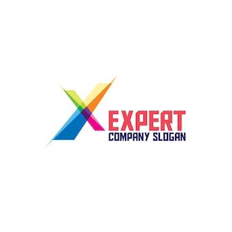 Abstrakte experte logo icon