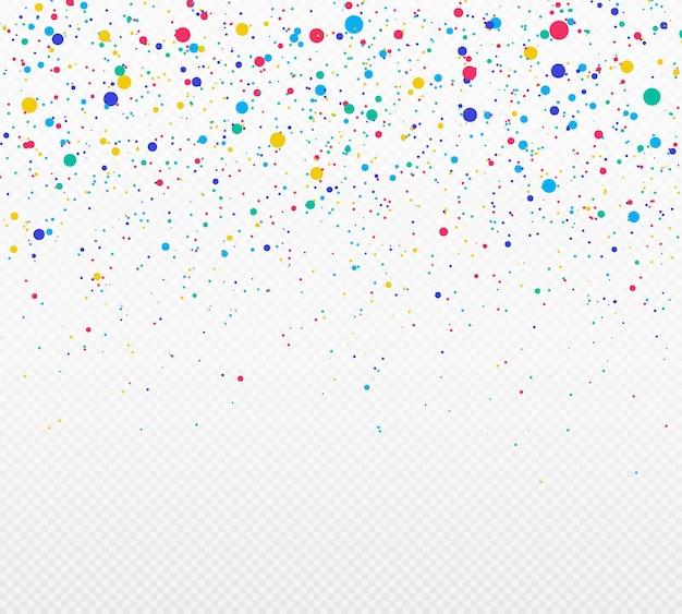 Abstrakte explosion von konfetti zufällige chaotische polka dot farbige serpentin