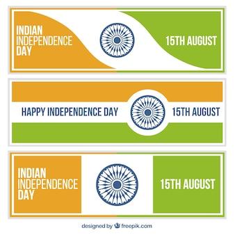 Abstrakte fahnen indiens unabhängigkeitstag