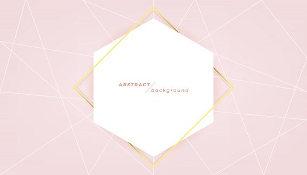 Abstrakte fahnenschablone auf rosa hintergrund.