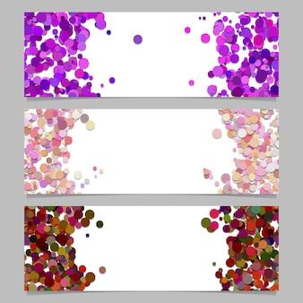Abstrakte fahnenschablone eingestellt mit farbigen punkten