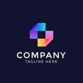 Abstrakte farbe logo design