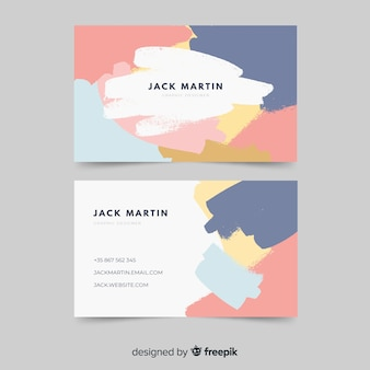 Abstrakte farbe visitenkarte vorlage