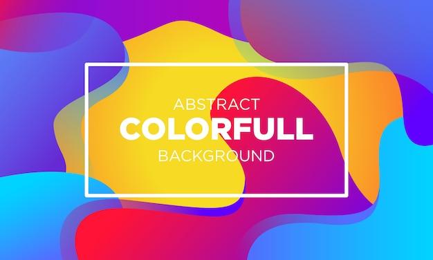 Abstrakte farbenfrohe gradientenflüssigkeit bakground templates-03