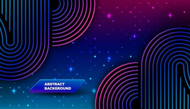 Abstrakte farblinie mit farbverlauf und lichteffekt