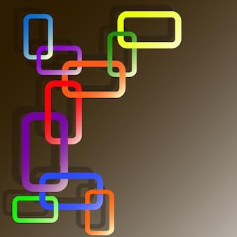 Abstrakte farbquadrate hintergrund. illustration
