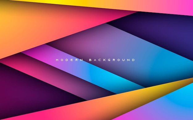Abstrakte farbverlauf hintergrund bunte überlappungsschichten