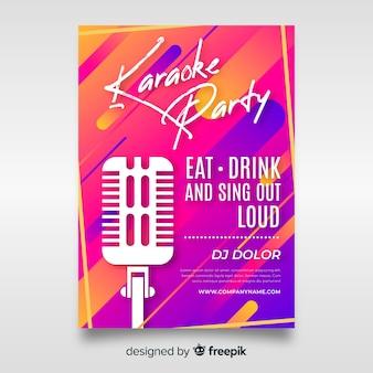 Abstrakte farbverlauf karaoke plakat vorlage