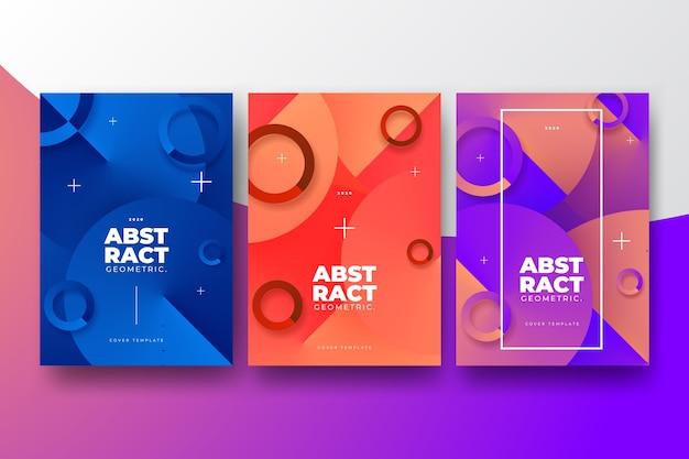 Abstrakte farbverlaufsformen decken die kollektion ab
