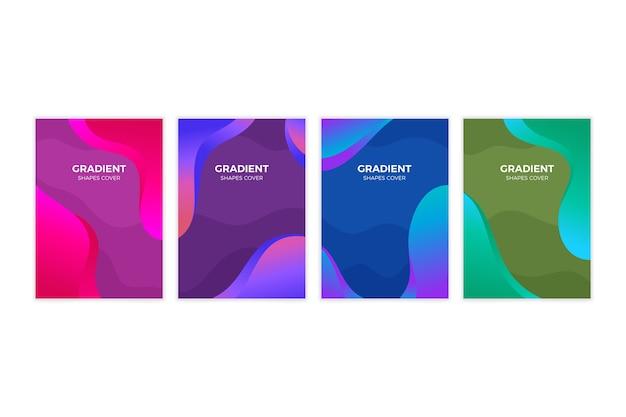 Abstrakte farbverlaufsformen decken satz ab