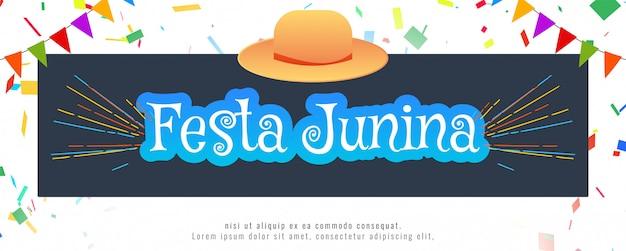 Abstrakte festa junina festival banner