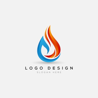 Abstrakte feuer logo vorlage