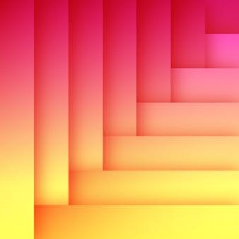 Abstrakte flache orange und rosa hintergrund-schablone
