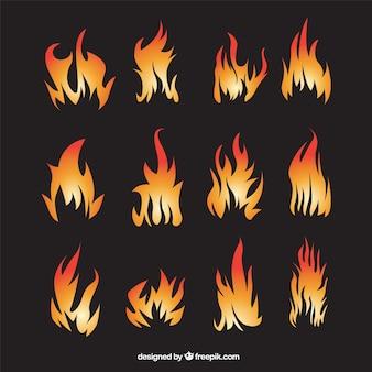 Abstrakte flammen sammlung