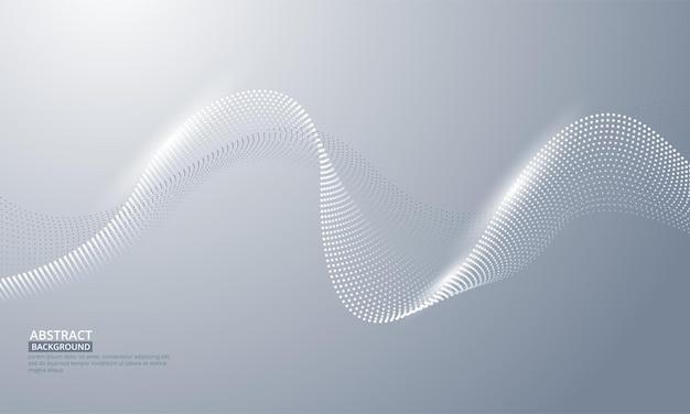 Abstrakte fließende wellenlinien. vektorillustration