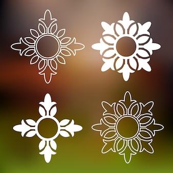 Abstrakte florale elemente
