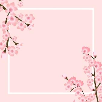 Abstrakte florale sakura-blume japanische natürliche hintergrundillustration