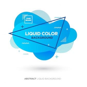 Abstrakte flüssige blaue farbfahne