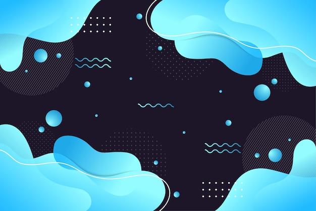 Abstrakte flüssige hintergrundvorlage. memphis-stil farbverlauf von blauem licht.