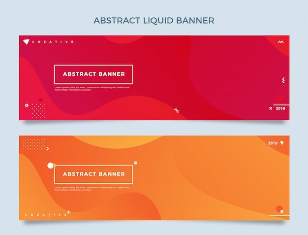 Abstrakte flüssige horizontale fahne
