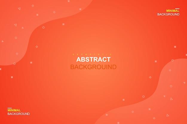 Abstrakte flüssige orange farbe und geometrischer hintergrund