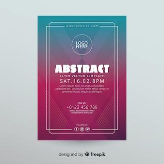Abstrakte flyer vorlage