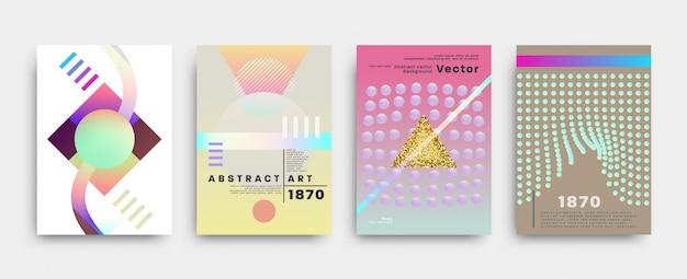Abstrakte flyersammlung