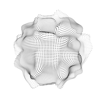 Abstrakte form 3d