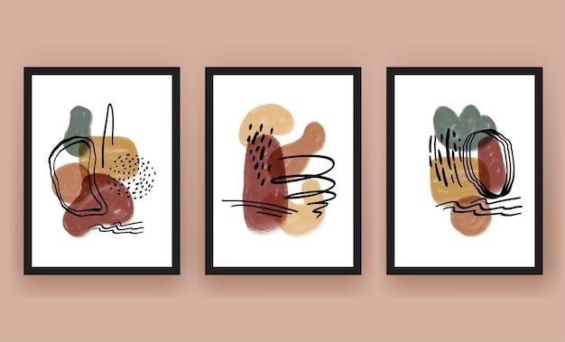 Abstrakte form boho moderne minimalistische cliparts