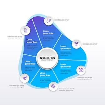 Abstrakte form infografik