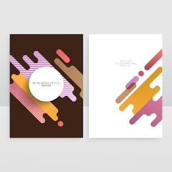 Abstrakte form katalog-abdeckung