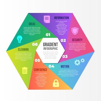 Abstrakte form mit farbverlauf infografik
