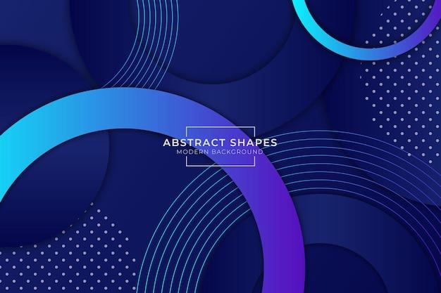 Abstrakte form moderner hintergrund dunkelblau