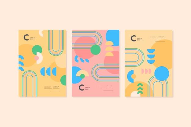 Abstrakte formen decken sammlung ab