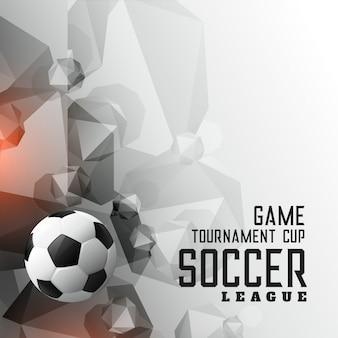 Abstrakte fußballturnier-liga trägt hintergrund zur schau
