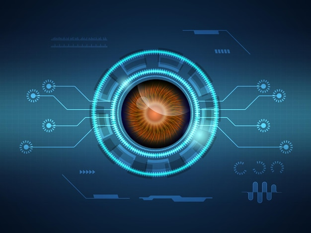 Abstrakte futuristische hud-display-schnittstelle sci-fi-technologie hintergrund vektor-illustration