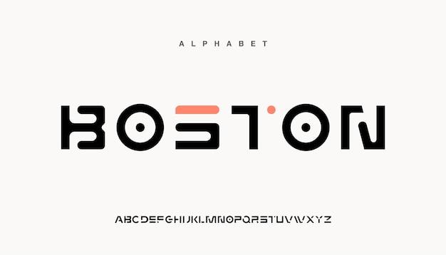 Abstrakte futuristische moderne technologie. moderne alphabet-schriften