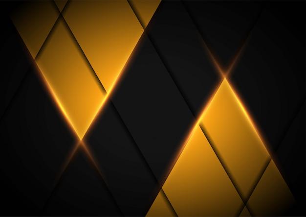 Abstrakte gelbe papierkunstillustration mit hellgelb