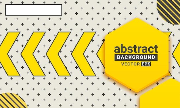 Abstrakte gelbe und schwarze geometrische form